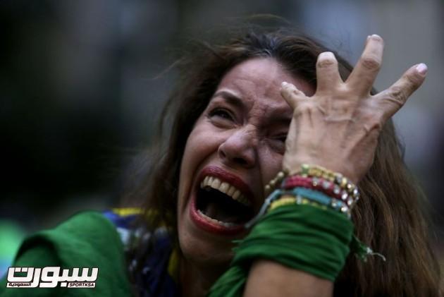 البرازيل المانيا بكاء 2
