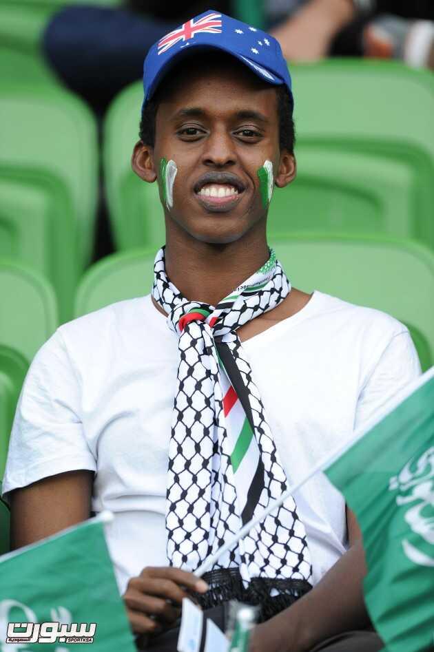 صور من مباراة السعودية و أوزباكستان