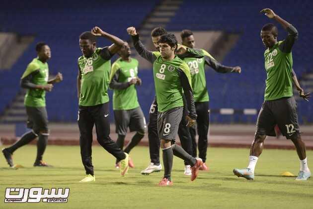 صور من تدريبات المنتخب السعودي
