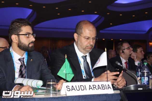 جانب من مشاركة الامير عبدالله بن مساعد والامير خالد بن بندر بن مساعد في المؤتمر