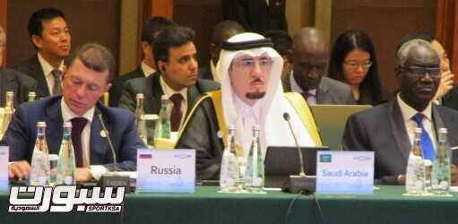 وزير العمل والتنمية الاجتماعية خلال مشاكته في اجتماع وزراء العمل ببكين1